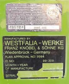 dekalerna från Westfalia med specifikation sitter på vänster framskärm.