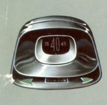 Hastighetsmätaren kallades cyklopögat såg likadan ut på alla Studebakers -57:or.