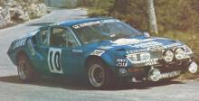 Michèle med Alpine A310 som bara kördes några tävlingar 1976