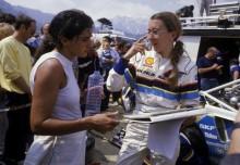 Michèle Mouton med sin kartläsare Fabrizia Pons