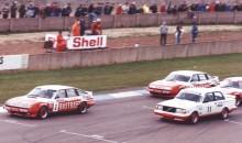 ETCC på Donnington 1985, med främsta konkurrenten Volvo
