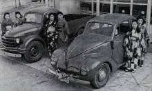 Första efterkrigsbilarna Toyota visade upp 1947 SA och SB