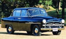Crown RS 1955 innebar Toyotas första stapplande steg på exportmarknaden.