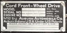 Chassiplåten som skryter med att detta är en Front Wheel Drive...