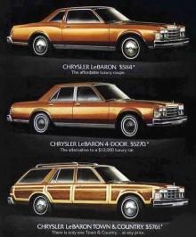 Le baron fanns som coupé och sedani grupperna base, S, och Medallion, samt Town&Country wagon med trädekor. Joakims Le Baron Medallion sedan är byggd i 35259 exemplar.