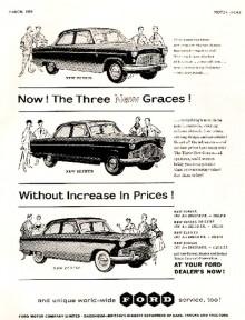 Consul, Zephyr och Zodiac mk.II marknadsfördes som de tre gracerna från Ford