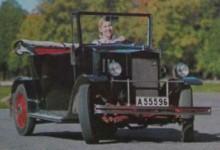 Maj Wahlström med bilen 1966