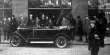 Den allra första Volvon lär körts direkt upp till Stockholm av bilhandlaren Ernst Grauer, som visade upp den efter påskhelgen utanför sin bilhall vid Brunkebergstorg