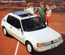I de talrika specialserierna av 205 fanns även en La Coste.