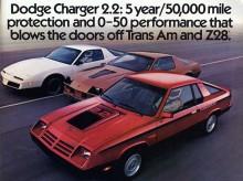 1982 och Shelby såg till att få bra snurr på den lilla 2,2liters fyran från Mitsubishi i Dodge Charger