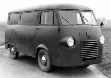 Prototypen från 1952, föga elegant men funktionell.