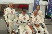 Vassare team för man leta efter – världsmästarna Stig Blomqvist och Björn Waldegård kör tillsammans med europamästaren Åke Andersson. Team Tidö leds av David von Schinkel (längst till höger) och de satsar hårdare än någonsin på årets rally.