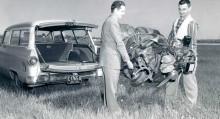Inflatoplanet  rymdes i en personbil.