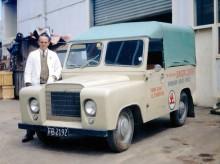 Trekka prototyp 1965 ,med fällbar vindruta a la Jeep, som senare försvann