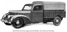 Eucorts lätta lastbil i 500 kilosklassen 1946-47.