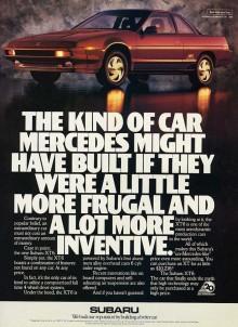 Subaru XT 1988, den hette även Alcyone på vissa marknader