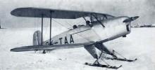 T-131 på skidor, licenstillverkad Bücker Bü-131