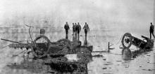 Vraket efter den våldsamma krashen på Ormond 1907.