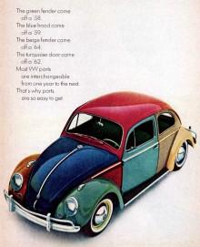 Konceptet hade dock en förebild, denna annons är för USA-marknaden 1964.