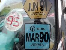 """""""Certificados"""" i rutan, skattekvitton från Colombia."""