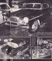 Sista bilderna på bilen i norrland, då radarparet Anders Bostic Envall och Chjris Condor från Bilsport fick syn på den, 1983.