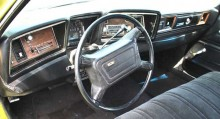 Och så här ser det ut en av de 1000 stycken Impalas som fick airbag 1973.