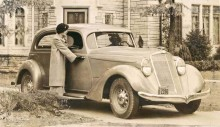 Raymonds första steg i fordonsdesign, Hupmobile 1935.