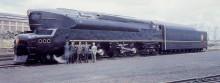 den extrema T1 ett av loken Loewy formgav för Pennsylvania railroads.