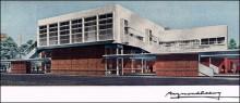 Även arkitektur ingick i studion, som exempelvis Roanokes järnvägsstation.