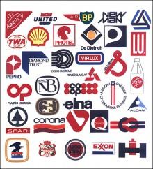 Välkända logotyper som i många fall används än idag, design som står sig.
