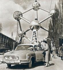 På vift i väst, Bryssel 1958.