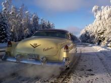 Med Cadillac på vintertur