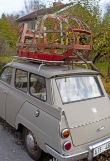 Det som i tanken skulle vara en flott hämtningsaktion på Gotland slutade i ett hårdriggat stilleben på vägstumpen hemmavid.