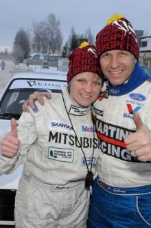 Petter Solberg med fru Pernilla Solberg fd Walfridsson.