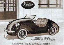 Mikrobilen Rovin som byggdes de sista åren i Delaunay-Bellevilles frabrik.