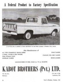 Ford F-100 1962, högerstyrd.