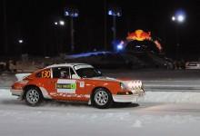 2012 års europamästare, Mats Myrsell slutade trea med sin Porsche 911 RS 1973 tillsammans med kartläsaren Esko Junttila.