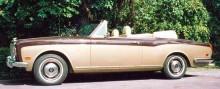 Bentley Cornishe cabriolet 1971, 77 stycken byggdes fram till 1984. T-1 cabrioleten som fanns i katalogen 1967-71 gjordes i 44 exemplar.