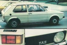 Jugoslaviengolfen känns igen på sitt J i emblemet och TAS i grillen.