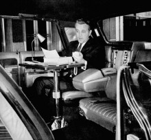 Tv, fax och dubbla telefonlinjer, it-teknologi 1966. För allmänheten kom det i nedbantad variant till 1967 års modell.