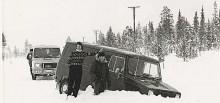 Sherpaprototyper under test i Finland, redan här började det gå galet.