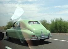 fångad i flykten, Packard Eight, 1950.