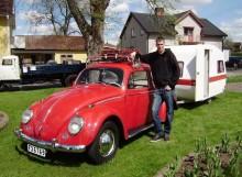 Erik Ljungkvists Volkswagen tog titeln träffens trevligaste ekipage