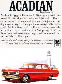 Acadian 1963 i Sverige