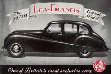Lea Francis 14-70, exportmodell, många verkar gått utomlands av dessa.