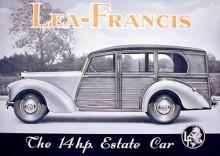 Lea Francis var en av få som erbjöd en egen stationsvagn i modellutbudet.