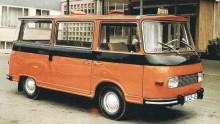 Snitisig Barkas B1000 minibuss för taxibruk.