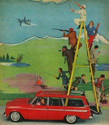 Wagonairen marknadsfördes i en rad olika sammanhang, en del av dom något surrealistiska