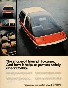 Man gjorde till och med ett reklamblad för den ickeexisterande bilen.