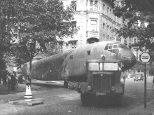 På en gata i Prag 1946